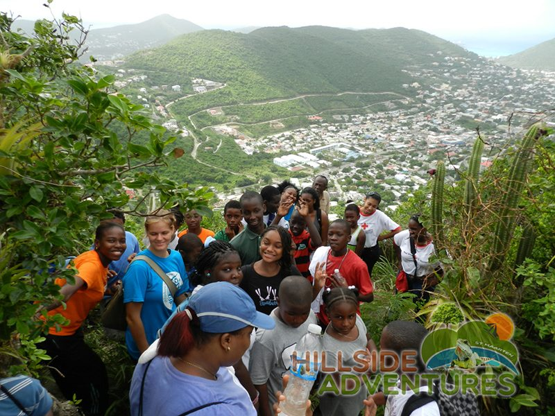All Photos: Philipsburg Jubilee Library summer camp kids hiking with Hillside Adventures St Maarten