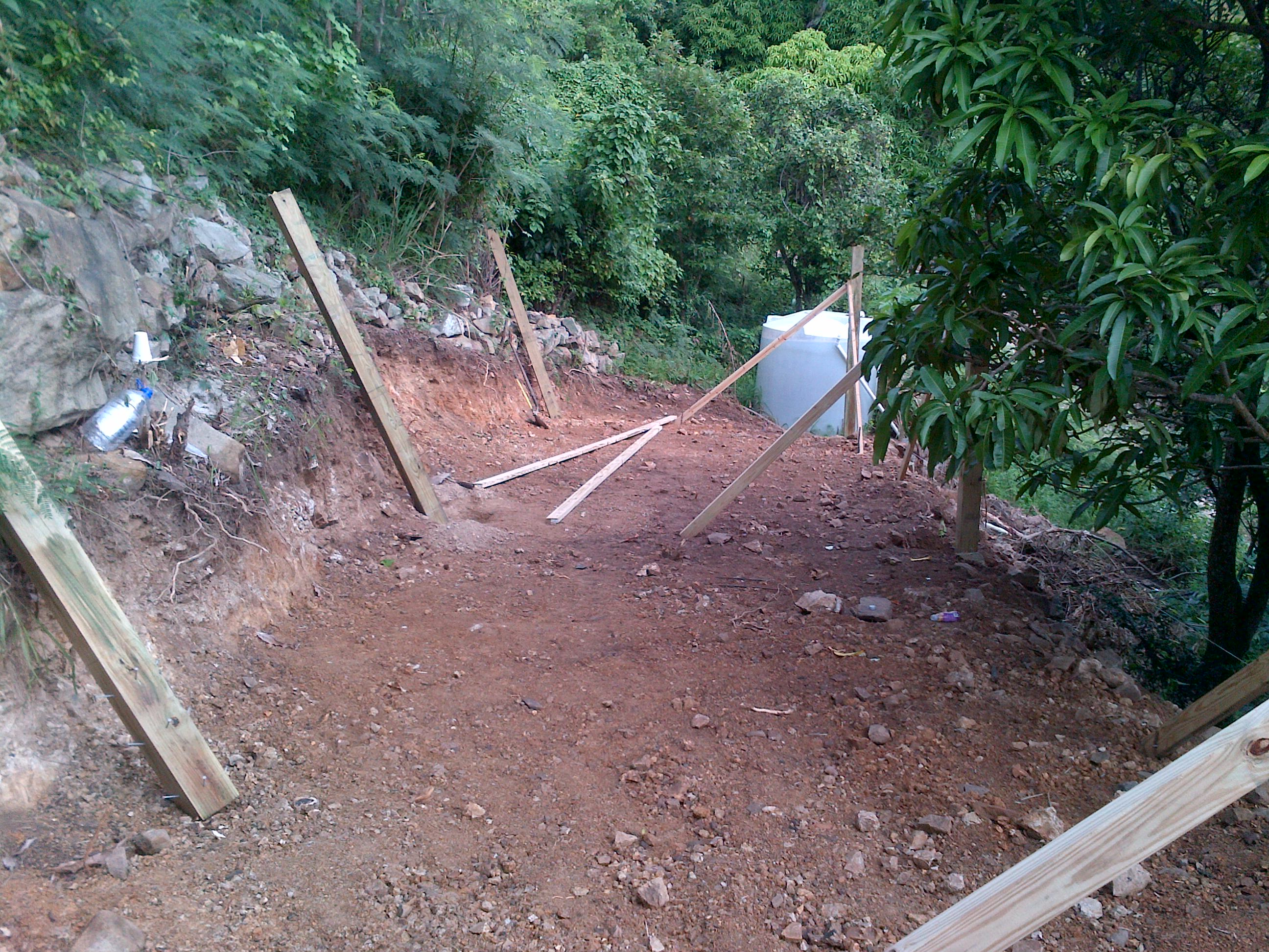 PHOTOS OF PROGRESS  – The construction of St Maarten first Production Chamber / Agricultural Station
