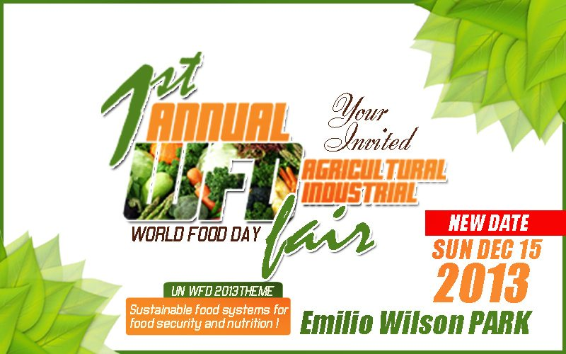 TODAY SUN DEC 15TH  FIRST ANNUAL AGRICULTURAL FAIR AT EMILIO WILSON PARK SCHEDULE