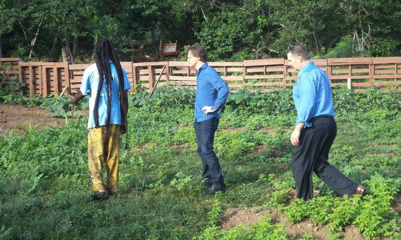 Dutch MPs André Bosman and Ronald van Raak visit St Peters Community Garden