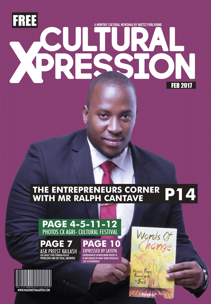Cultural Xpression February 2017  – Exclusive interview with Mr Ralph Cantave