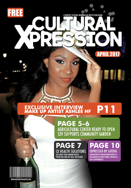 Cultural Xpression April 2017 – Exclusive Interview with Make Up Artist Ashlee Hodge Florvil
