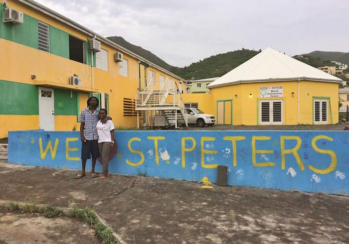 Backpack relief goods for St Maarten Irma Hurricane victims