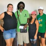 The Chef's at St. Maarten Vegan's Community makes donation to St Peters Community Garden